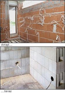 Instalacje elektryczne na ścianie z SILKI
