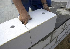 Układanie kolejnych bloków SILKA